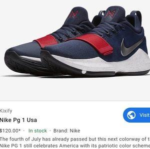 Nike Paul George PG1 Basketball Shoes USA